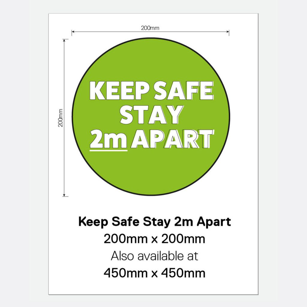 'Keep Safe Stay 2m Apart' Vinyl Wall Sign
