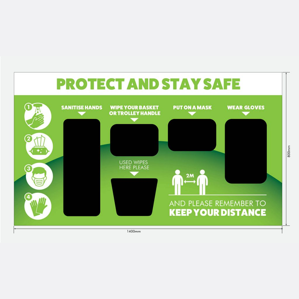 Wall Mounted Large Hygiene Station for Retailers