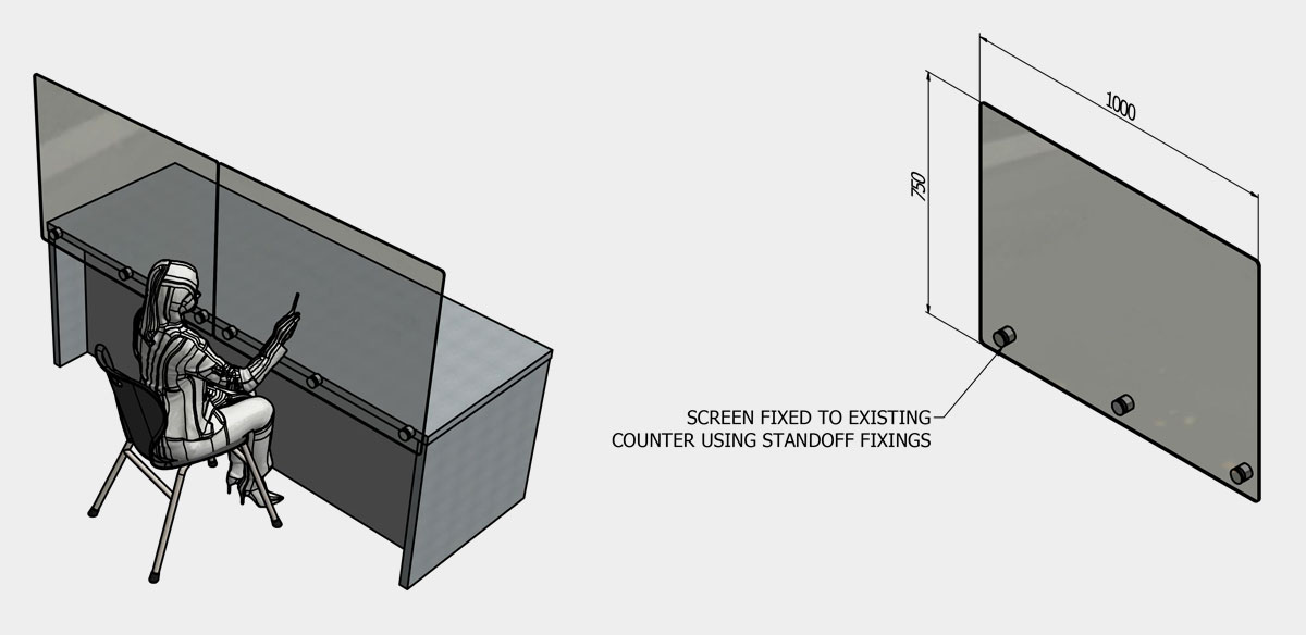 Fixed Counter Screen (Double Width)