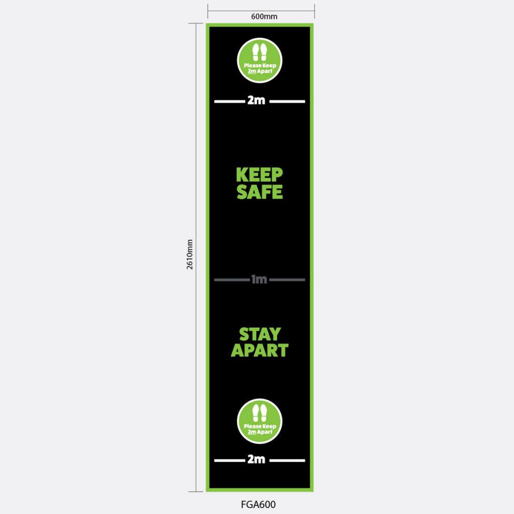 Medium Strip Floor Graphic