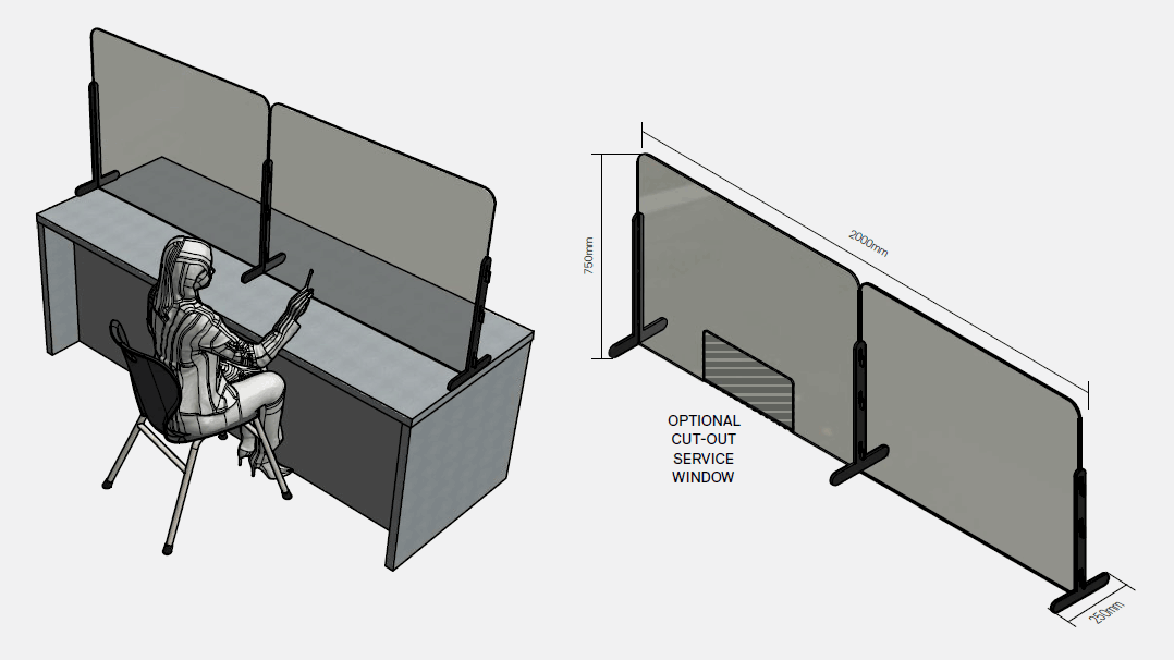 Moveable Counter Screen (Double)