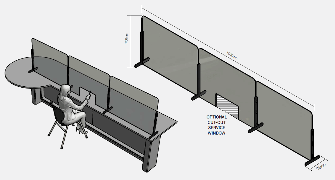 Moveable Counter Screen (Triple)