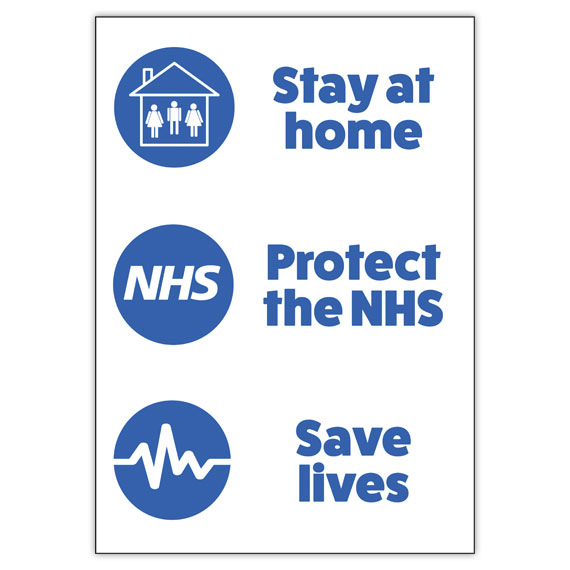 'Protect the NHS' Window Sign