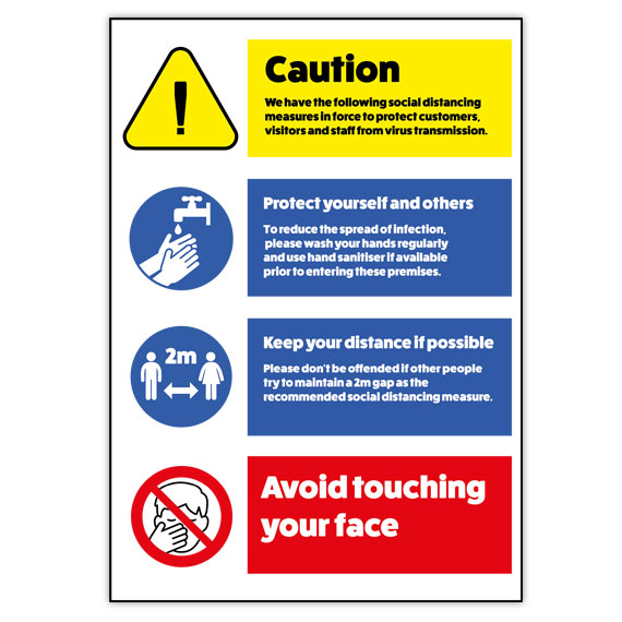 General Safety Signs for Walls