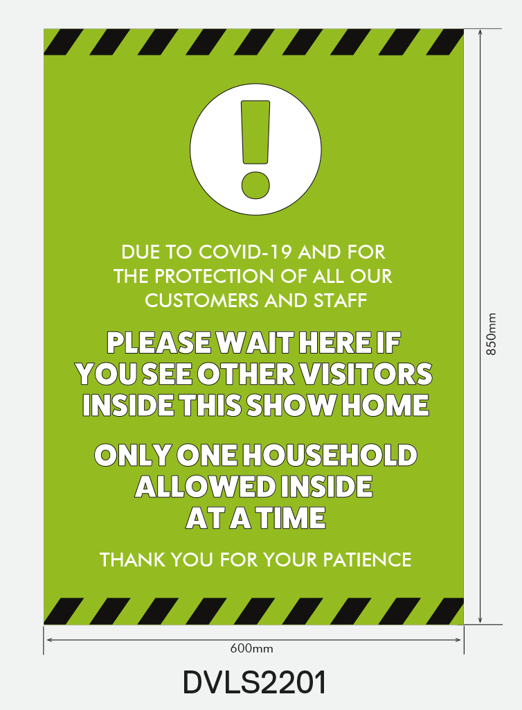 Entrance Sign for Windows and Walls – `Please Wait Here`