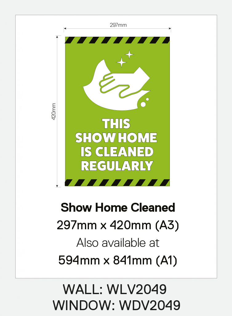 Window Vinyl – `Show Home Cleaned`