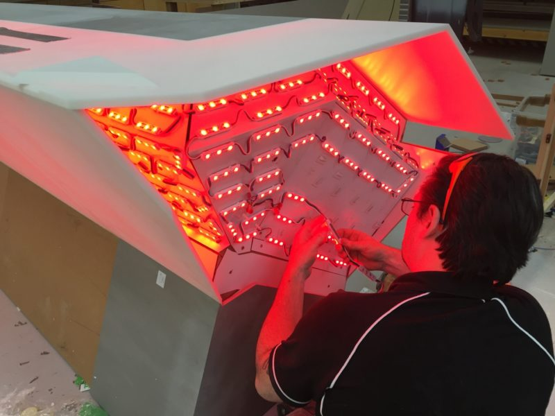 Illuminated Desk in Production