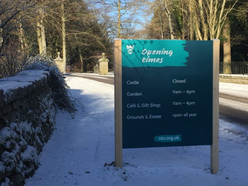 Crathes Castle Wayfinding Sign